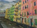 Häuserzeile am Harburger Hafen