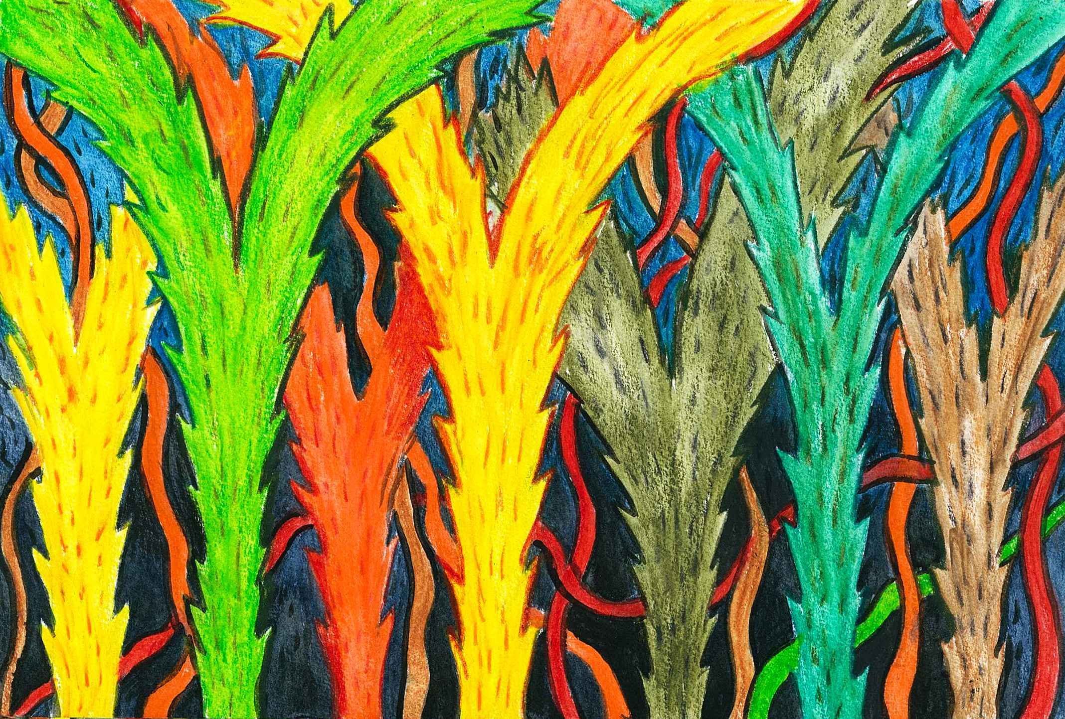 Artdoxa community for contemporary art rick hawkins top abstract plants 2 sciox Images