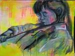 am Geige spielen