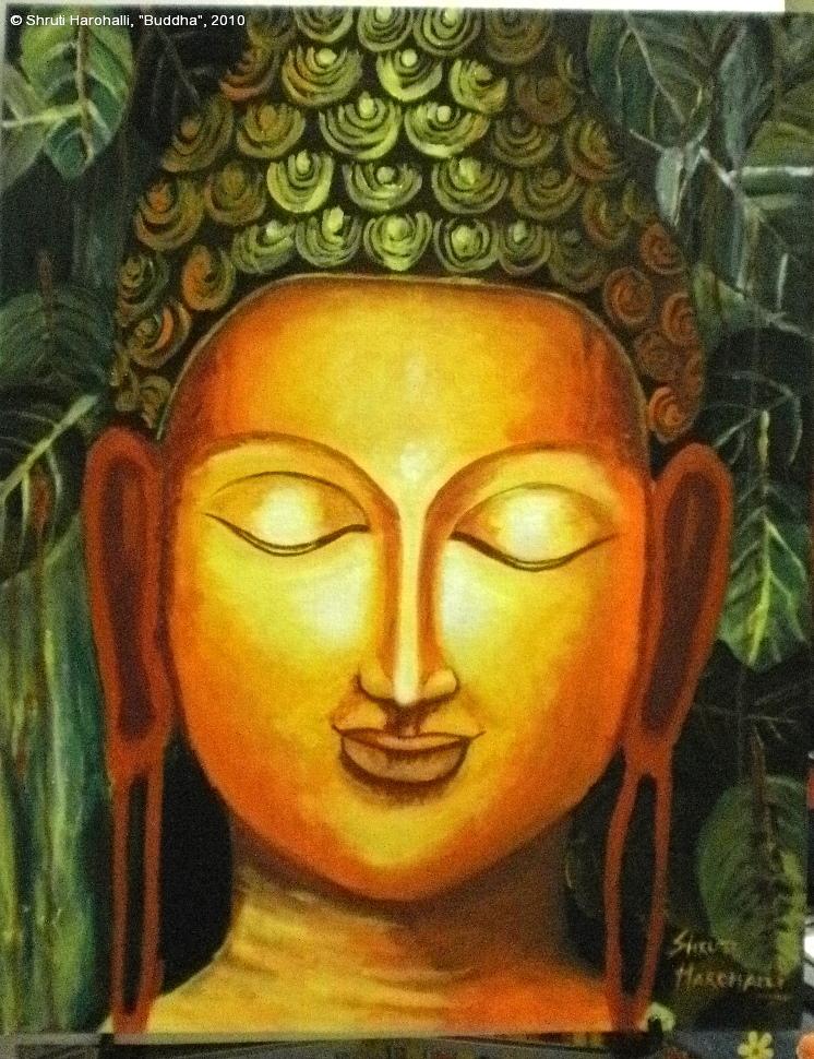 Artdoxa community for contemporary art vishakha garg for Buddha mural paintings