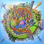 naive paintings of tel aviv city primitive art by raphael perez