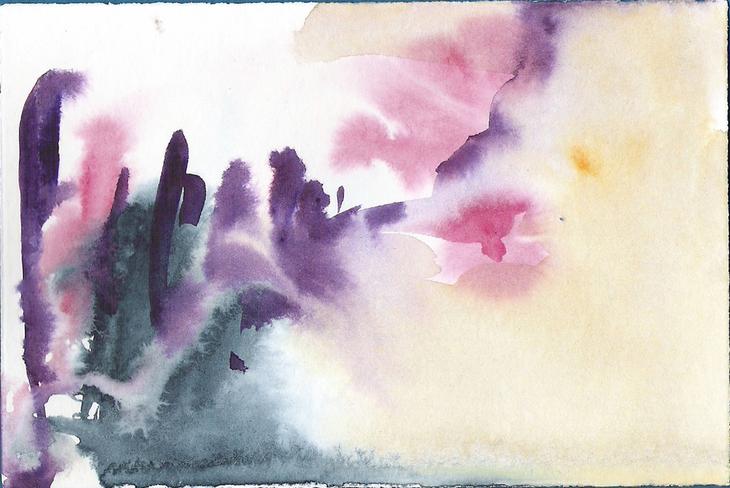 Aquarell abstrakte Landschaft 1