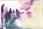 Aquarell abstrakte Landschaft 1