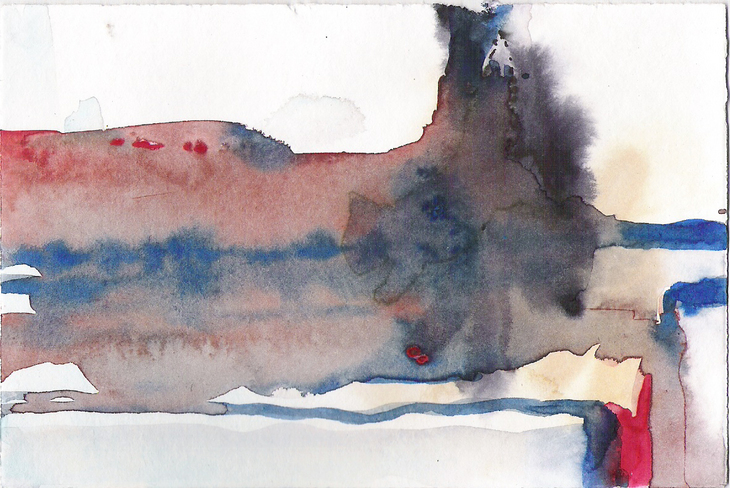 Aquarell abstrakte Landschaft 3