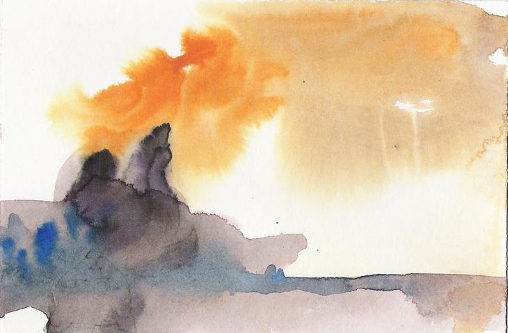 Aquarell abstrakte Landschaft 4
