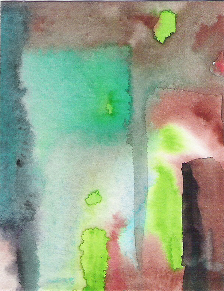 Aquarell abstrakte Landschaft 22