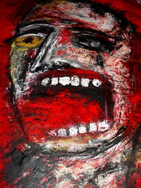 The outrageous truth  Acryl auf Tuch 180 x 160 cm