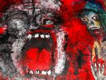 Crying and pain Guilt and morality  160 x 160 cm Acryl auf Tuch