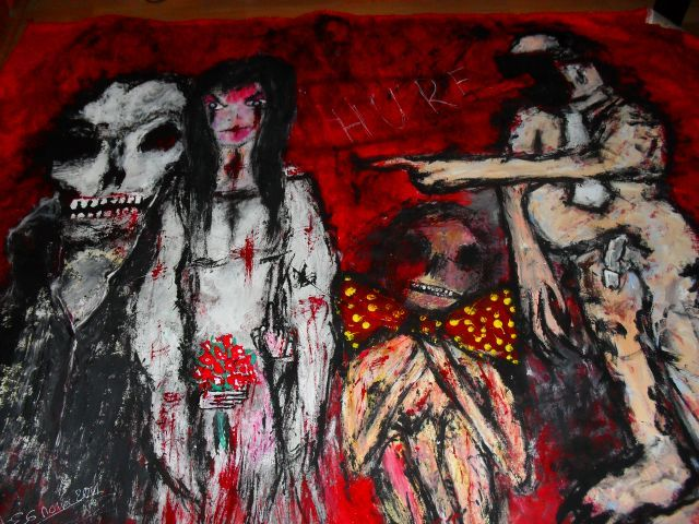 A story of many stories  Acryl auf Tuch  185 x 160 cm