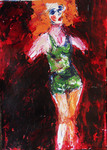 lady of the night 2, 2011, acrylic on paper, 42cm x 30cm