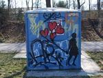 Streetart Munich near Isarriver