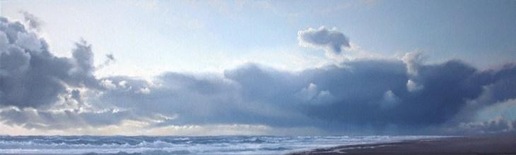 Regenwolken über der Nordsee