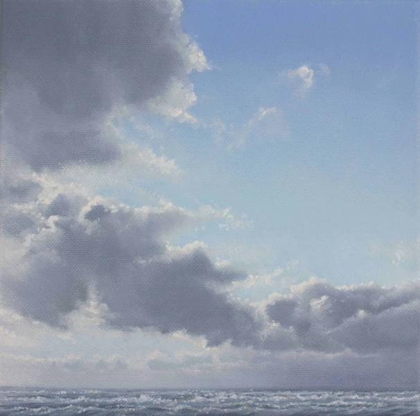 Hoher Himmel über der See