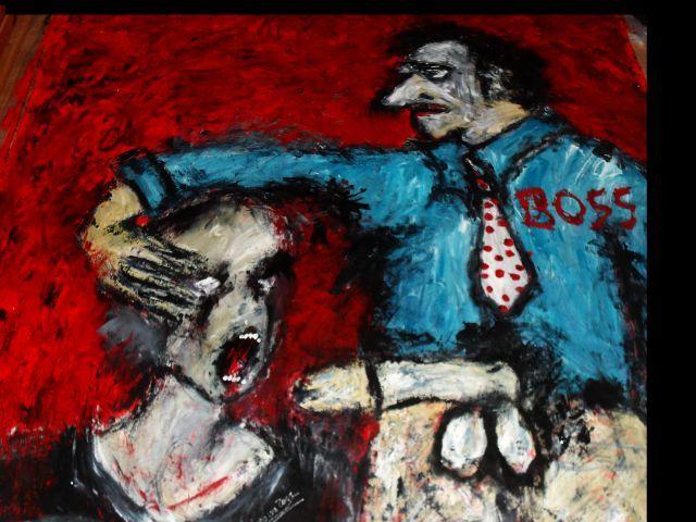 Branded   Acryl auf Tuch 160 x 160 cm
