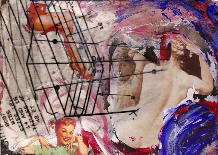 girl galaxy, 2011, 21cm x 30cm, collage digital print, ed
