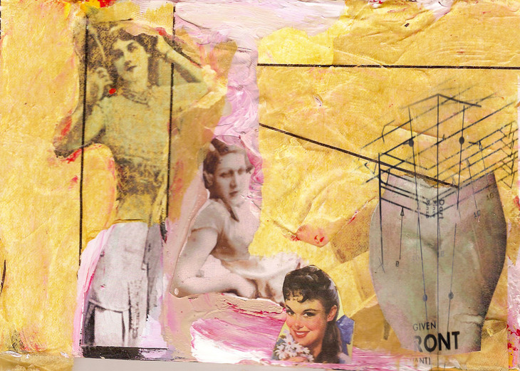 In the mirror, 2011, 21cm x 30cm, collage digital print, ed