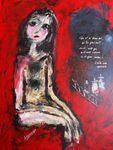 I go with you  for Martina  Acryl auf Karton 100 x 70 cm