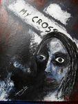 -My Cross - acryl auf Karton,50 x 40 cm