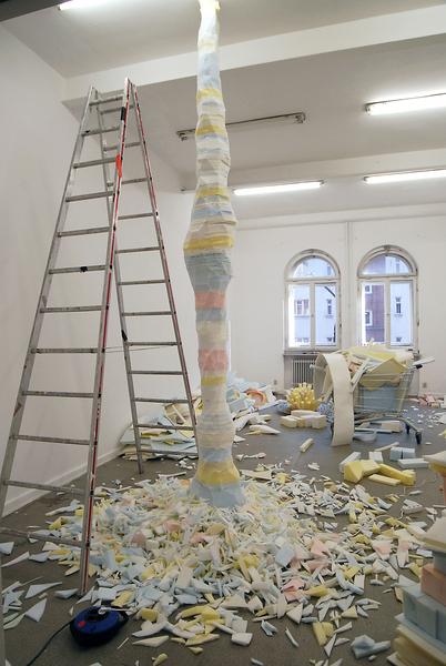 Aufbau der Schauma-Ausstellung