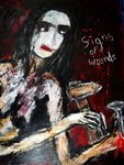-Signs  of wounds  Acryl auf Karton 100 x 70 cm
