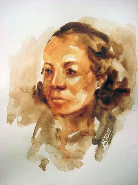 10 minute portrait drawing, Class work