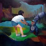 His sister and a Tapir