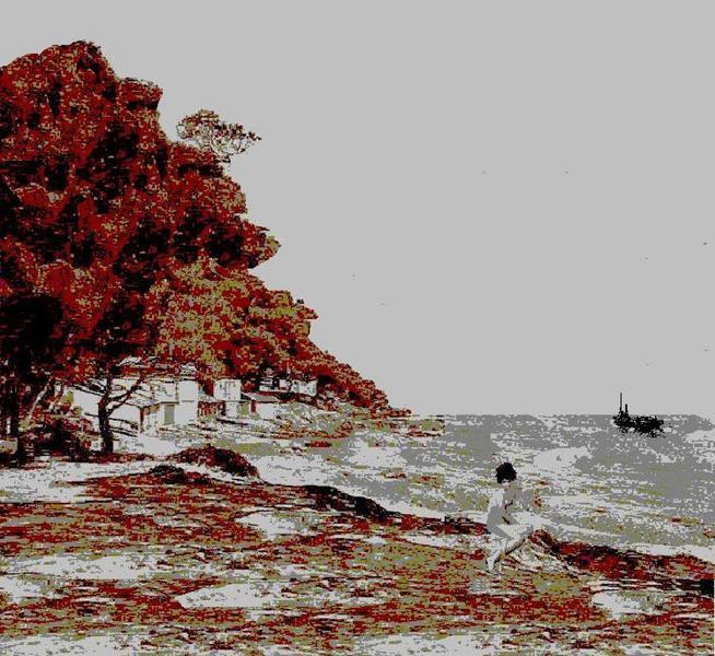 Sylvette à la mer