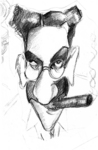 Groucho cartoon  rough