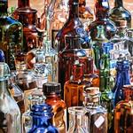 Bottle rocket Acryl-Leinwand 100x100cm