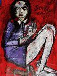Sunday Child  Acryl auf Tuch 115 x 65 cm