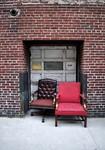 chairs and garage door