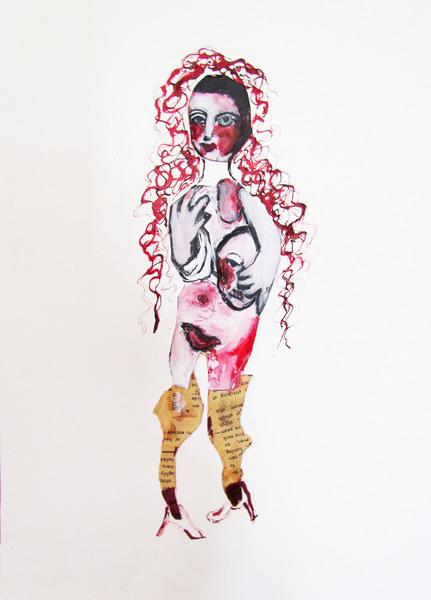 prostitute, 27cm x 41cm