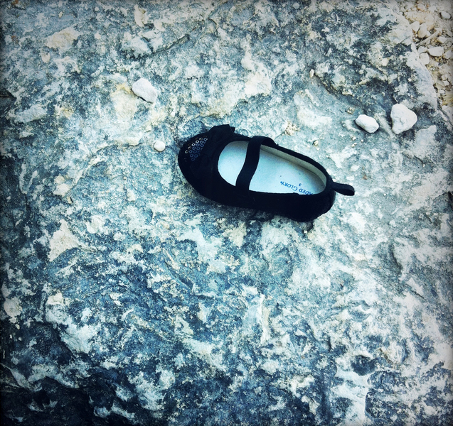 Baby shoe at Mount Bonnell