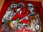 Haloween Band  Acryl auf tuch 160 x 160 cm