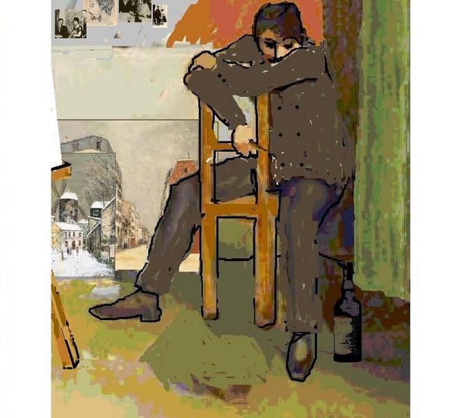 Maurice dans son atelier