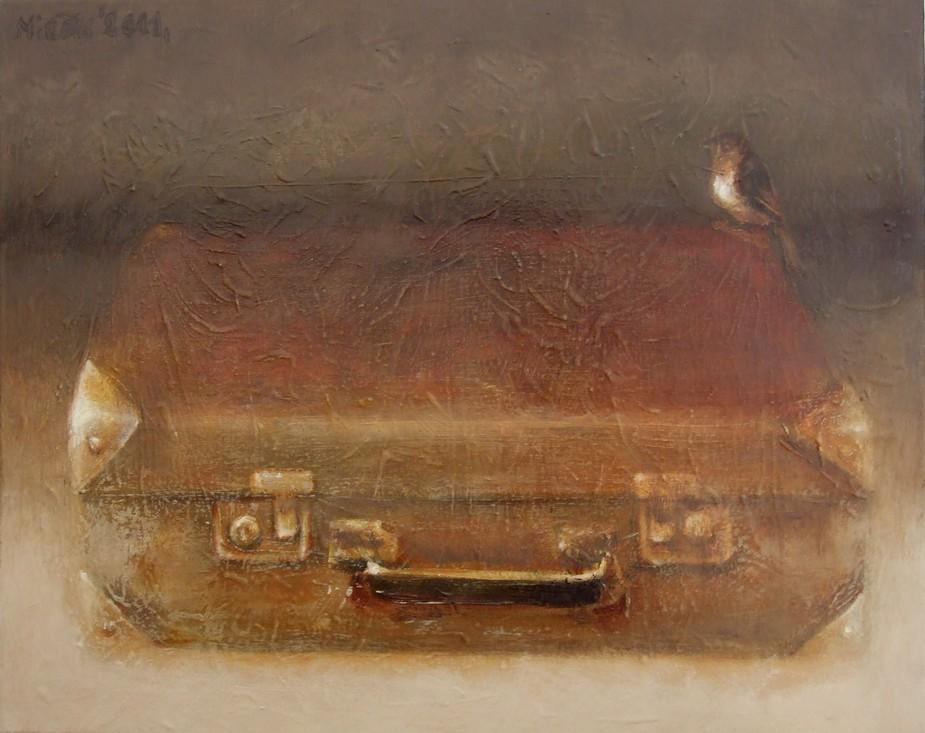 ...suitcase  & bird...