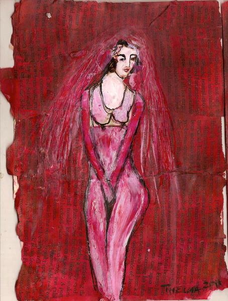 nude bride, 2012, 15cm x 20cm