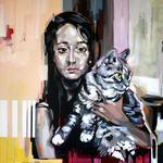 Maedchen mit Katze