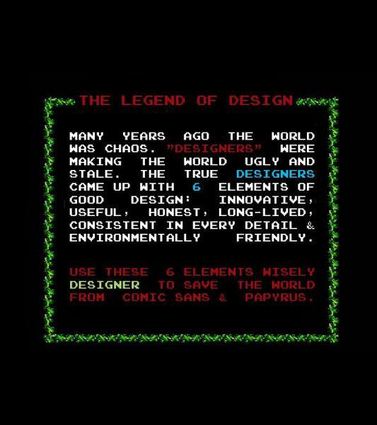 The Legend of Design