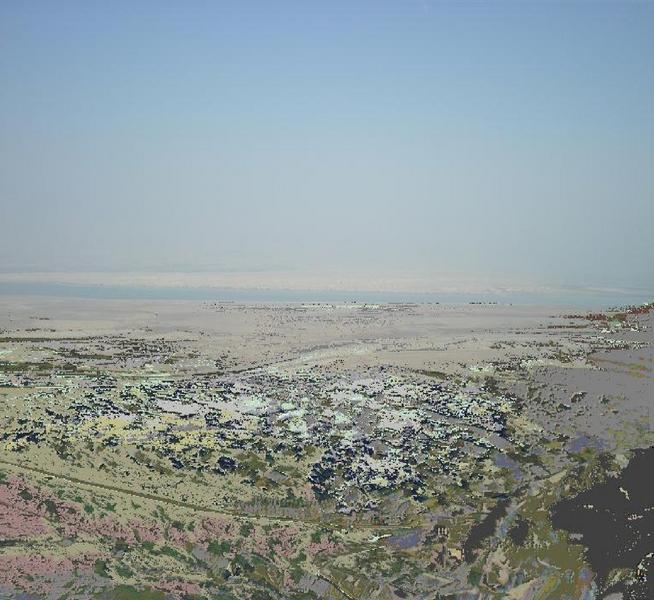 La mer morte vue de Massada