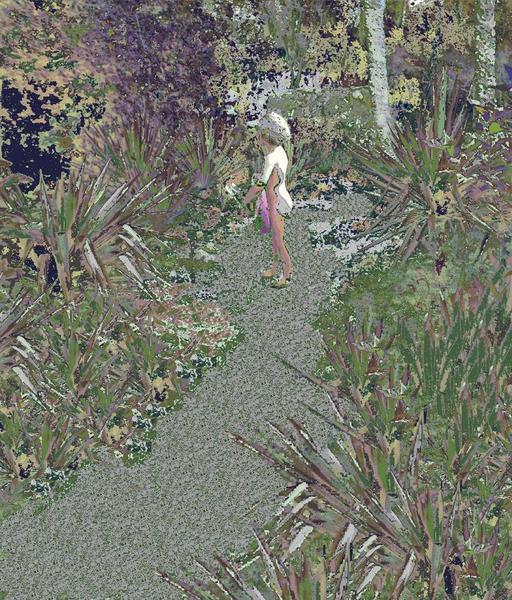 Noémie dans le jardin