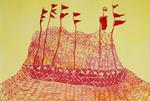 Dana Kane, Red Boat on yellow 2011