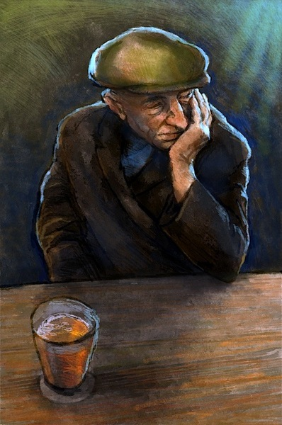 Old man drinking