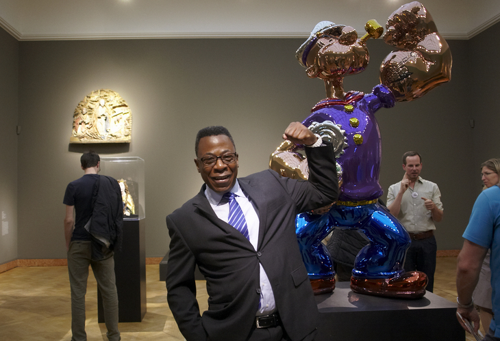 Jeff Koons opening exibition in Frankfurt