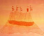 Dana Kane   Red Ship Sunset, 2012
