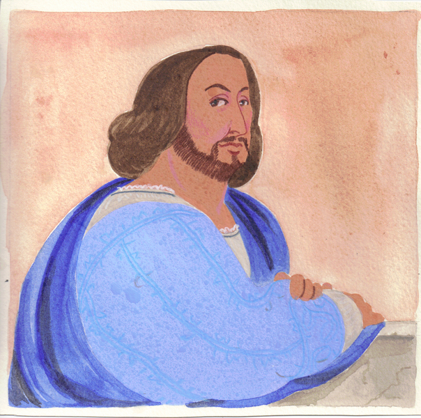 The portrait of a dishonest man