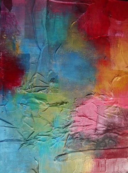 Jukebox, acrylics and mixed media on canvas, 75x100 cm