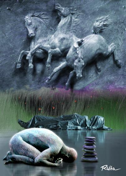 The death of goddess Inanna