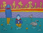 Paisagem com Duas Meninas II(Landscape with Two Little Girls II)