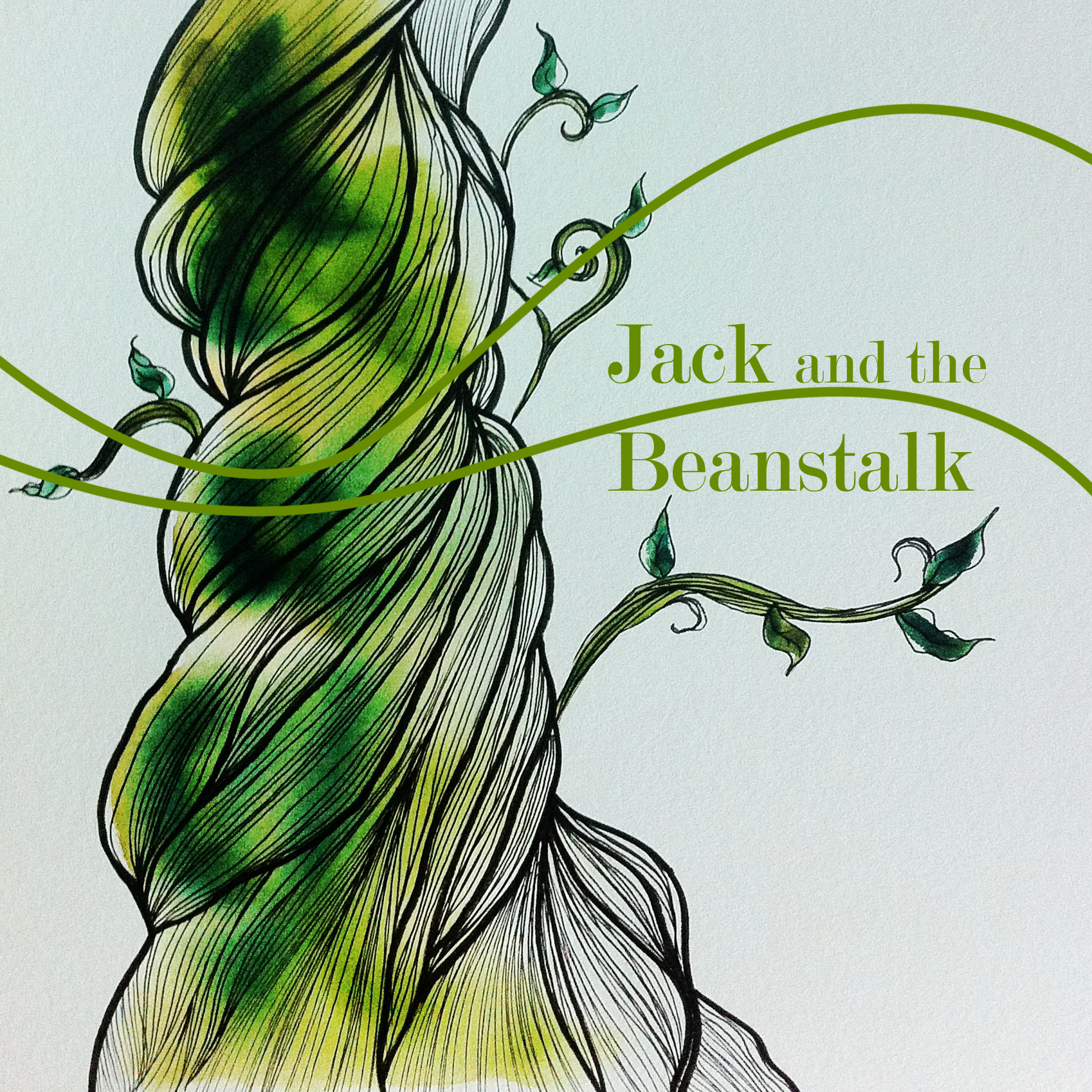 how to draw jack and the beanstalk